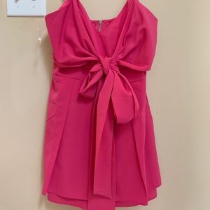 Pink Lily Hot Pink Romper